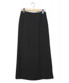 AP STUDIO(エーピーステゥディオ)の古着「レーヨンダブルクロススカート」|ブラック