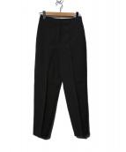 Demi-Luxe BEAMS(デミルクスビームス)の古着「ウエストゴム ピンタックパンツ」|ブラック