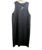 LAUTRE AMONT(ロートレアモン)の古着「Iラインジャンパースカート」|ブラック