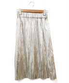 ISABEL MARANT ETOILE(イザベルマラン エトワール)の古着「メタリックプリーツスカート」|シルバー