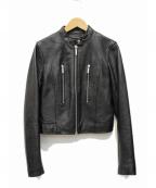 MICHAEL MICHAEL KORS(マイケル マイケルコース)の古着「シングルライダースジャケット」 ブラック
