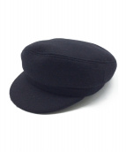 ISABEL MARANT(イザベルマラン)の古着「ウールハンチングキャップ」|ブラック