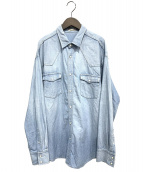 AP STUDIO(エーピーステゥディオ)の古着「ATTICKオーバーサイズシャンブレーシャツ」|インディゴ
