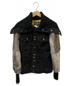 D&G(ディーアンドジー)の古着「袖ファーデニムジャケット」