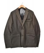 ART COMES FIRST(アートカムズファースト)の古着「15AW テーラードジャケット」|ダークグリーン