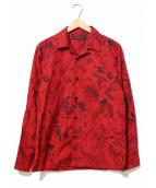 Hysteric Glamour / THEE HYSTERIC XXX(ヒステリックグラマー ジィヒステリックトリプルエックス)の古着「オープンカラーシャツ」|レッド