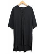 ALMOSTBLACK(オールモストブラック)の古着「20SS ロングシャツ」|ブラック