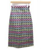 GUCCI(グッチ)の古着「Gシグネチャースカート」|シルバー