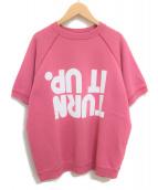 Maison Margiela(メゾンマルジェラ)の古着「プリント半袖スウェット」|ピンク