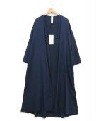 nagonstans(ナゴンスタンス)の古着「インディゴガウンコート」|インディゴ