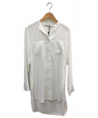 BEIGE(ベイジ)の古着「バンドカラーシャツ」|ホワイト
