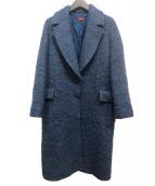 DES PRES(デプレ)の古着「アルパカウールシャギー チェスターコート」|ダークブルー