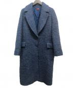 DES PRES()の古着「アルパカウールシャギー チェスターコート」|ダークブルー