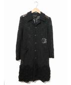 COMME des GARCONS(コムデギャルソン)の古着「レースコート」|ブラック
