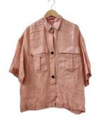 ()の古着「ラミーサファリシャツ」|ピンク