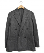CARUSO(カルーゾ)の古着「ヘリンボーンダブルジャケット」|グレー