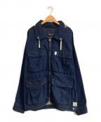 SCOTCH & SODA(スコッチアンドソーダ)の古着「フーデッドデニムコート」|インディゴ