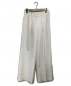 自由区(ジユウク)の古着「センタープレスワイドパンツ」|ホワイト