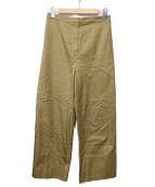 Demi-Luxe BEAMS(デミルクスビームス)の古着「コットンチノワイドパンツ」|ブラウン