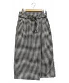 ANAYI(アナイ)の古着「千鳥柄スカート」 ブラック