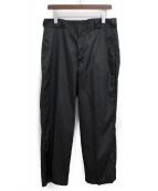 PRADA(プラダ)の古着「ポケットプレートロゴナイロンストレートパンツ」 ブラック