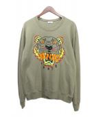 ()の古着「タイガー刺繍クルーネック」|オリーブ