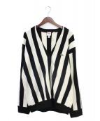 Supreme(シュプリーム)の古着「Stripe Cardigan」|アイボリー×ブラック