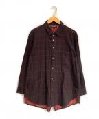 DIET BUTCHER SLIM SKIN(ダイエットブッチャースリムスキン)の古着「チェックシャツ」|ブラック