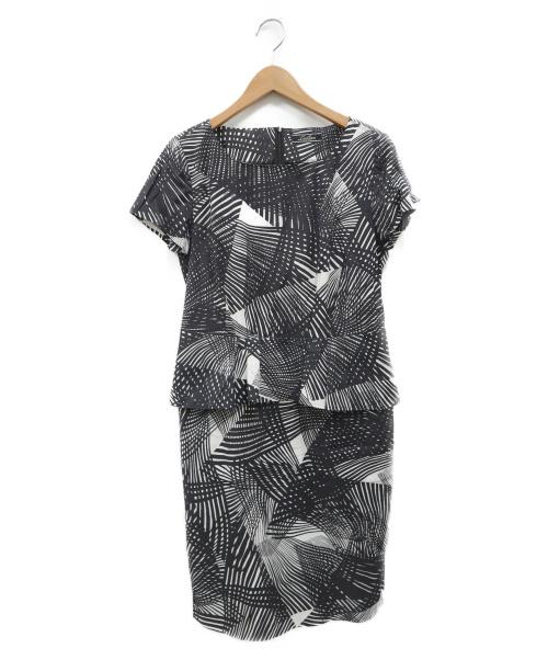 Leilian(レリアン)LEILIAN (レリアン) ペプラムワンピース ブラック サイズ:9の古着・服飾アイテム