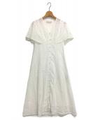 CELFORD(セルフォード)の古着「20SS コットンエンブロイダリーワンピース」|ホワイト