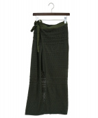 Ameri(アメリ)の古着「LACE MILLEFEUILLE PANTS」|カーキ
