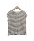 theory luxe(セオリーリュクス)の古着「Tweed Knit Sophia」|ベージュ