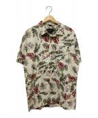 ()の古着「アロハシャツ」|アイボリー×グリーン