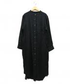 RIVE DROITE(リヴドロウ)の古着「バンドカラーシャツワンピース」 ブラック