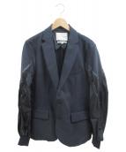 yoshio kubo(ヨシオクボ)の古着「ボンバースリーブジャケット」|ネイビー