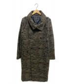 yoshio kubo(ヨシオクボ)の古着「カモフラージュデザインロングコート」|カーキ
