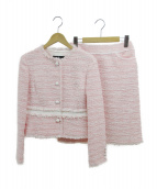 LANVIN COLLECTION(ランバンラコレクション)の古着「セットアップスーツ」|ピンク