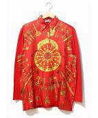 HERMES(エルメス)の古着「[OLD]シルクニットポロシャツ」|レッド