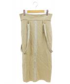 TAN(タン)の古着「SERUBITCHI BRACEスカート」 ベージュ