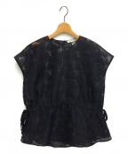 AEWEN MATOPH(イウエン マトフ)の古着「カットジャカード ブラウス」 ブラック