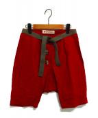 MARNI(マルニ)の古着「ショートパンツ」|レッド
