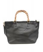 GIANNI NOTARO(ジャンニ ノターロ)の古着「バンブー2WAYバッグ」|ブラック