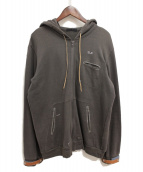 UNDERCOVER(アンダーカバー)の古着「ジップパーカー」|ブラウン