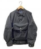 ALMOSTBLACK(オールモストブラック)の古着「チェストバッグドッキングジャケット」 ブラック