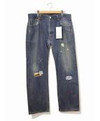 ATELIER&REPAIRS(アトリエ&リペアーズ)の古着「501リメイクデニムパンツ」|インディゴ