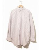 Engineered Garments(エンジニアードガーメンツ)の古着「ストライプボタンダウンシャツ」|レッド