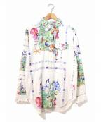 Engineered Garments WORKADAY(エンジニアドガーメンツ ワーカデイ)の古着「BD Shirt - Cotton Print」|ホワイト