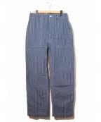 Engineered Garments WORKADAY(エンジニアドガーメンツ ワーカデイ)の古着「ストライプファティーグパンツ」