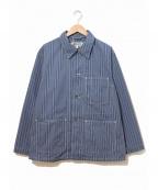 Engineered Garments WORKADAY(エンジニアドガーメンツ ワーカデイ)の古着「ストライプカバーオール」|ネイビー
