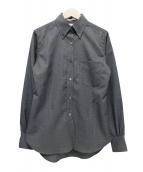 MADISON BLUE(マディソンブルー)の古着「ウールボタンダウンシャツ 」 グレー